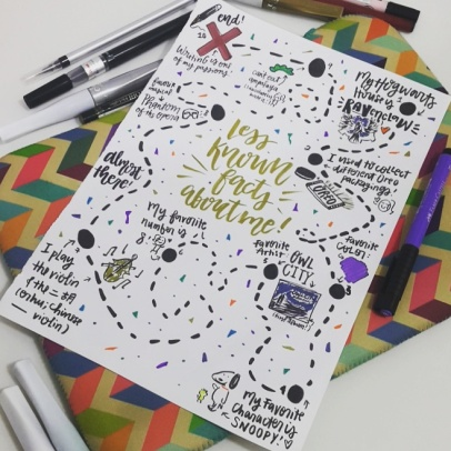 """Joined this contest to win a planner - I didn't win, HAHA. This piece is basically about """"10 Random Facts About Me""""."""