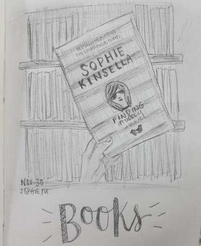 Started a series wherein I practice sketching and combined lettering. B is for Books.